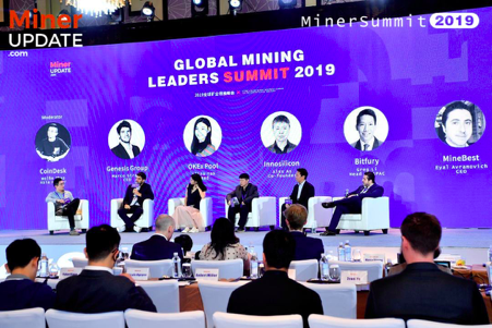 Wolfie Zhao (CoinDesk) moderates a panel with Marco Streng (Genesis), Alina Yao (OKEx), Alex Ao (Innosilicon), Greg Li, (Bitfury), and Eyal Avramovich (MineBest)